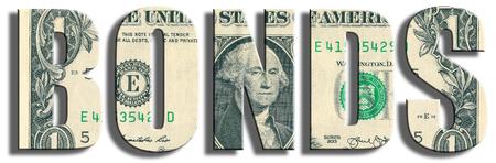bonds: Bonds or obligations. US Dollar texture. 3D illustration.