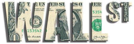 Wall street. US Dollar texture. 3D illustration. Stock Photo