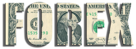 foreign exchange: Forex or FX - foreign exchange or currency market. US Dollar texture. 3D illustration.