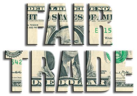 Fair Trade. US Dollar texture.