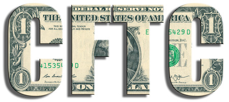 commission: CFTC - Commodity Futures Trading Commission. US Dollar texture. Stock Photo