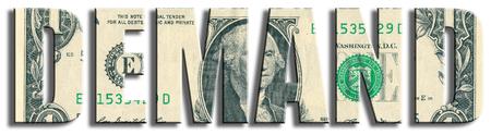 Demand. US Dollar texture. 版權商用圖片