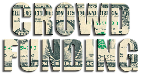 Crowdfunding or fundraising. US Dollar texture.