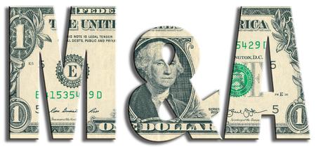 M ・ A、合併・買収。米ドルのテクスチャです。 写真素材