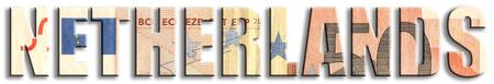 Netherlands. Eurozone member. Euro banknote texture.