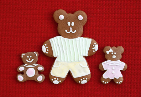 Happy family - gingerbread bears, Fathers day concept