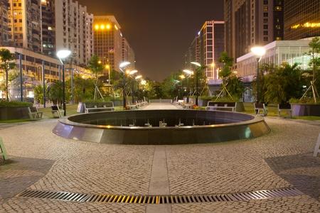 clam gardens: A public park in Hongkong night scene