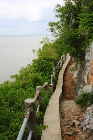 percorso sulla collina