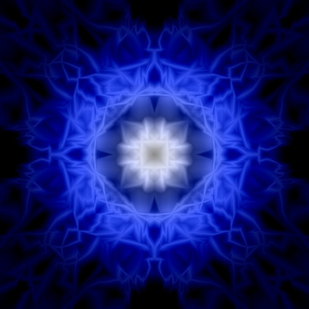 abstract symmetrical image blue color photo