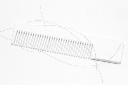 calvicie: peine con pelos Foto de archivo