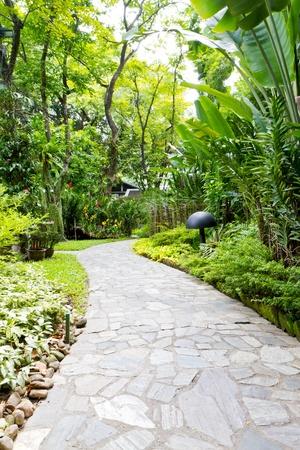 percorso e il giardino