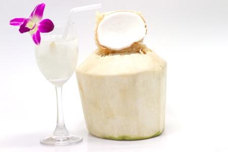 cordial: coconut juice Stock Photo