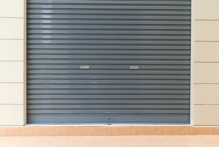 shutter door - metal sheet Stock Photo - 10889687