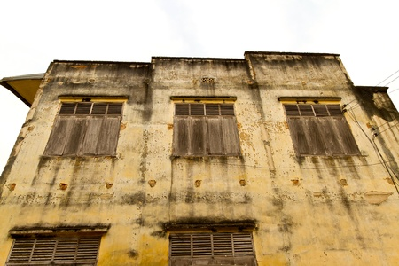 old house and wooden windows photo