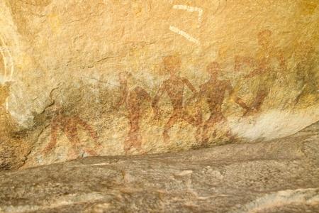 Cave umano o Khon Tham in Udornthani (luogo di viaggio) Thailandia - un naturale riparo sotto roccia arenaria rappresenta date archeologia a circa 2.000-3.000 BP