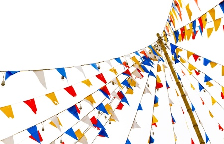 green flag: details of colorful flags
