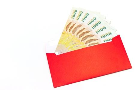 thai money in red envelope Stock Photo - 12124230