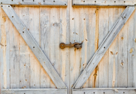 wooden farm door photo