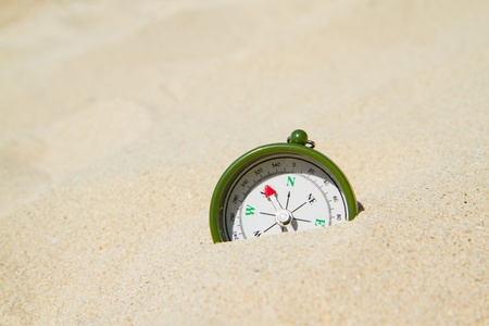 compass on the beach photo
