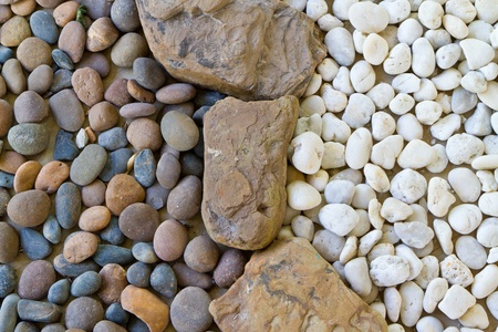 landscaped: white and black pebble texture Stock Photo