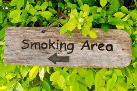 smoking area sign photo