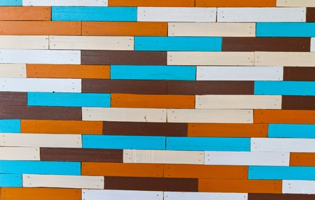 colordul wooden wall photo
