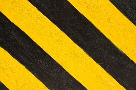 factory floor: yellow and black line background Stock Photo