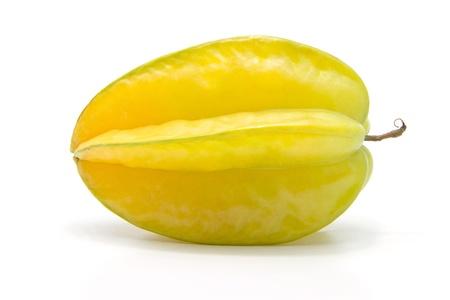 fresh starfruit on white background Stock Photo - 12712911