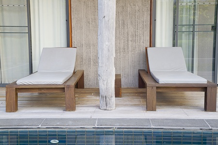 lap of luxury: two beach chairs