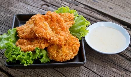 deep fried shrimp meat ball with sweet sauce