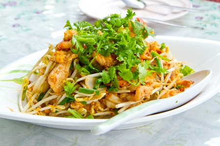 bean sprouts: thai noodle  Stock Photo