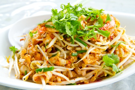 stir fry: thai noodle  Stock Photo