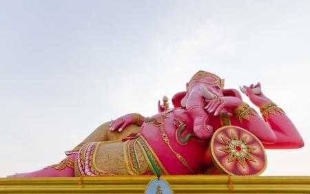 siddhivinayaka: pink Ganesha portrait post in leisure feeling Stock Photo