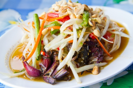 vegetarian: papaya salad with crab