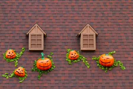 home decoration in Halloween style photo