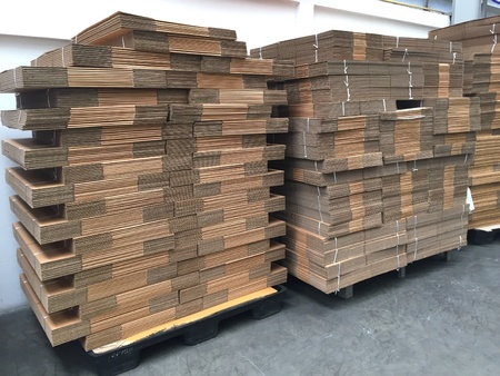 industry: Pile of paper boxes in the factory