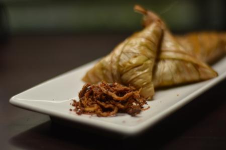 Ketupat Palas is Malaysia traditional food. Фото со стока