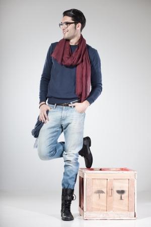 handsome male model posing in the studio