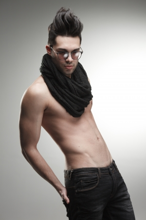 male model torso: sexy fashion man model