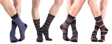 socks: colección de hombre calcetines en los pies