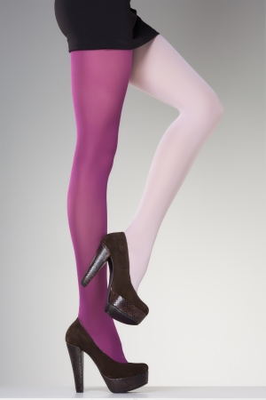 sexy legs stockings:  stockings on sexy woman legs isolated on grey