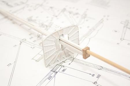 Model ship building. Building a mast photo
