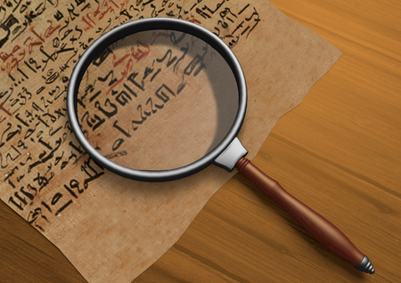 Magnifier on Papyrus