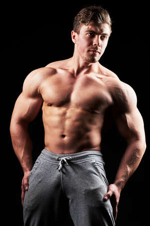 Sexy muscular fitness man