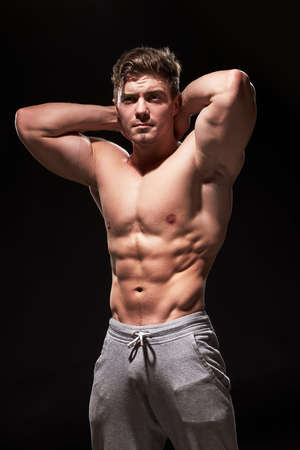 Sexy muscular fitness man