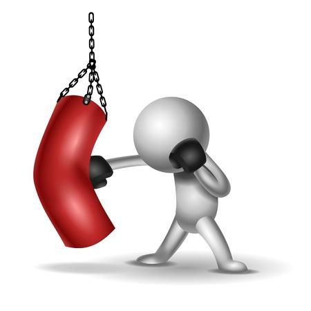 kickboxing: Fighter Stock Photo