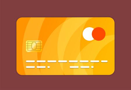 Credit card 2d illustration Stockfoto