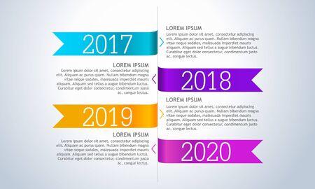Vector infographic company milestones timeline
