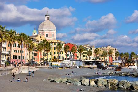 landscape of the village pledge February 20, 2017, Genoa, Italy