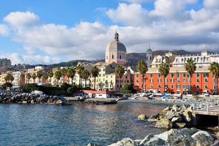 landscape of the village pledge Genoa, Italy